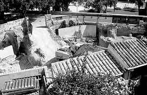 Preocupación por el futuro de la muralla medieval en el solar del Bastió d'en Berard