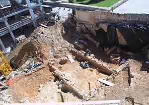 El CIM protegerá los muros romanos de sa Calatrava que corren peligro de derrumbe